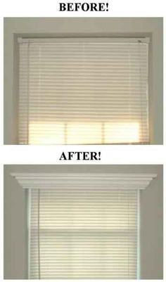 Dress up your windows with crown molding. Such a great, easy and inexpensive diy window update for a house.