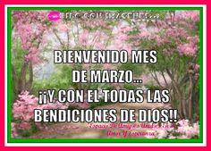 Bienvenido Mes De Marzo... Y con El Todos Las Bendiciones De Dios!!