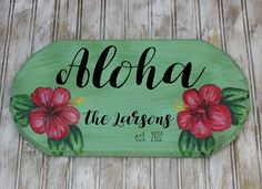 Items similar to Mele Kalikimaka family plaque Christmas Signs, Christmas Decorations, Holiday Decor, Christmas Door, Christmas Stuff, Hawaiian Decor, Tropical Christmas, Thing 1, Unique Doors