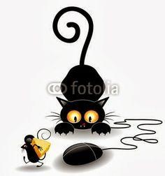 BluedarkArt The Chameleon's Art: Black Cats Attack!