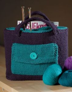 Knitter's Tool Bag Pattern - Knitting Patterns by Kerin Dimeler- Laurence