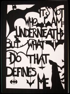Batman+quote+handmade+paper+cut+out+by+allanamphotography+on+Etsy,+£17.50