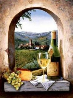 original-paintings-a-bunch-of-grapes-a-book-a-cup-and-a-bottle-of-beer-on-the-windowsill.jpg (387×520)