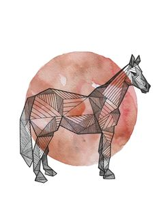 Hand inked geometric animals, laid atop watercolor circles, representing the full moon, the universe & oneness. Watercolor Circles, Watercolor Moon, Watercolor Animals, Animal Sketches, Animal Drawings, Drawing Sketches, Art Drawings, Drawing Animals, Sketching