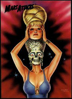 Mars Attacks, another Tim Burton dvd i need Mars Attacks, Science Fiction, Arte Horror, Horror Art, Horror Movie Posters, Horror Movies, Illustrations, Illustration Art, Vintage Horror