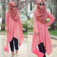 4 Beautiful chest coverage hijab ideas (8)