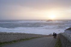 Big storm at Cape Cornwall, Cornwall.