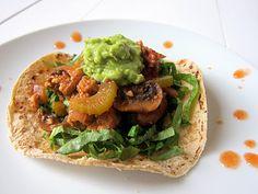 achiote tempeh tacos #vegan