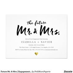 Engagement party invitations engagement party invitation couples future mr mrs engagement party invite stopboris