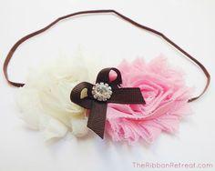 Make Flower Headbands with Skinny Elastic - The Ribbon Retreat Blog