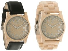 Wow--what a great idea. Moment Wood Watches by FLUD.
