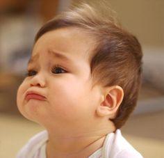 Sad face expression