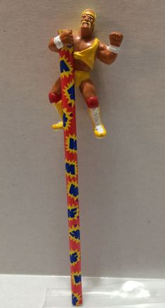 1999 Titan Sports WWF WWE LJN Wrestling Pencil Topper -Hulk Hogan This item is NOT in Mint Condition and is in no way being described as Mint or even Near Mint. Our toys have not always lead the perfe
