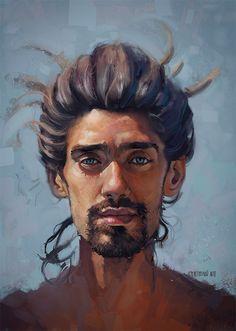 Paintable.cc | 50 Stunning Digital Painting Portraits: Thiago Moura Januário #digitalpainting #portrait #inspiration