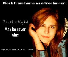 Are planning to freelance work from home now? You can start easily by choosing a good work from home program on the internet. Usually the amount of money you make from it will be directly related to the amount of work you do. A work from home business is an excellent way to gain independence and financial freedom. Sign up free and join our team.