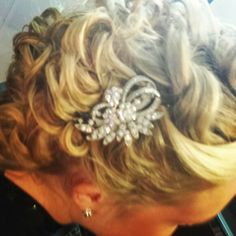 Beautiful brides hair by Amy Alesia of Pin Up Salon www.pinupsalongirl.com 4436748160