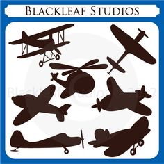Flying High Airplane Silhouettes - aeroplane, aircraft, planes, baby kiddy planes, silhouette, logo, outline,  Personal and Commercial Use. $5,00, via Etsy.