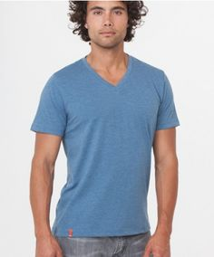 www.wearpact.com. Super soft organic cotton V-neck tee for men. #wearpact