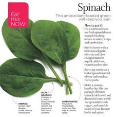 Love my spinach!