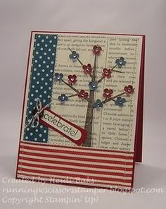 patriotic flower tree