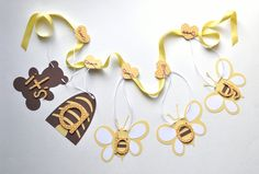 Bumble Bee baby shower decorations It's a boy yellow banner by ParkersPrints on Etsy. $17.50, via Etsy.