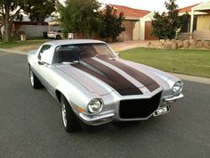 Camaro wrapped in Avery Dennison #SWF Matt Silver Metallic - by Perth Vehicle Wraps