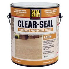 Seal-Krete, 1-gal. Satin Clear Seal Concrete Protective Sealer, 604001 at The Home Depot - Mobile