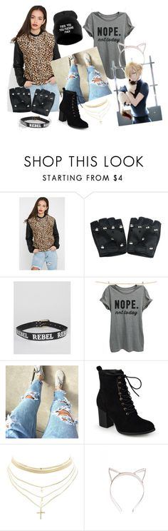 """""""Yuri Plisetsky"""" by area2002 on Polyvore featuring Sacred Hawk, Thread Tank, Journee Collection, Charlotte Russe and Nasty Gal"""