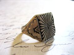Vintage Sterling Silver Southwestern Ring by charmingellie on Etsy, $82.00