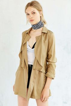 Kimchi Blue Tencel Midnight Mac Trench Coat - Urban Outfitters