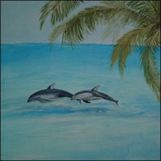 Dolphins from a beach mural