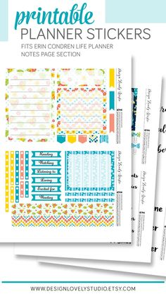 Summer Planner, Mini Happy Planner, Printable Planner Stickers, Diy Stickers, Erin Condren Life Planner, Monthly Planner, Planner Decorating, Day Planners, Planner Supplies