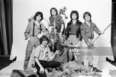 Photo of ROSETTA STONE; Posed studio group portrait, christmas, reindeer Get premium, high resolution news photos at Getty Images Bay City Rollers, Rosetta Stone, Special Olympics, Teen, Memories, Poses, Portrait, Studio, Celebrities