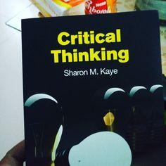 """Bacaan minggu ini.. """"Critical Thinking"""" nya Sharon M. Kaye.. Dari buku ini kita belajar basic argumentations.. dasar-dasar menyusun dan mempertahankan argumen.. Baru sempat buka plastik setelah 2 tahun lalu beli di Periplus CGK.. Dan masih banyak buku-buku plastikan lain yg belum ke buka.. Postingan ini disponsori oleh.. """"Apapun makanannya minumnya.."""""""