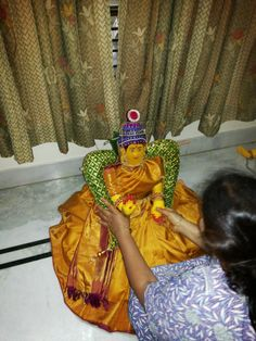 Varalakshmi pooja- making of the idol