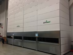 flexibility of an EffiMat® allows a physical integration with an automated in/outfeed conveyor system. Pic: EffiMat® at Nibe in #Sweden (2013) – benefits: space optimization, time saving, faster picking, efficient picking process, manpower saving...