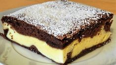 Dvojbarevný tvarohový dort s čokoládou a zakysanou smetanou, který musíte vyzkoušet. Ochutnáte a budete ho milovat! - Cookie Recipes, Dessert Recipes, Desserts, Slovak Recipes, Good Food, Yummy Food, Sweets Cake, Sweet And Salty, Mini Cakes