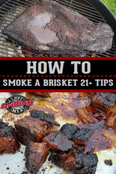 How To Smoke A Brisket Tips - Expolore the best and the special ideas about Bbq pitmasters Beef Brisket Recipes, Bbq Brisket, Smoked Beef Brisket, Smoked Pork, Barbecue Recipes, Grilling Recipes, Grilling Tips, Pork Recipes, Traeger Recipes