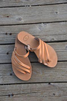 Deslizamiento en griego sandalias sandalias de por madammeshushu