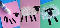 5 manualidades con pintura de dedos para bebés y preescolares Diy For Kids, Crafts For Kids, Diy And Crafts, Arts And Crafts, Summer Kids, Toddler Activities, Farm Animals, Cute Art, Origami