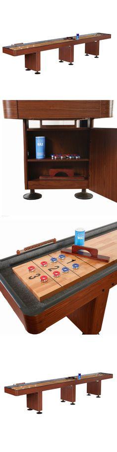 Shuffleboard 79777: Hathaway Merlot 12 Ft Shuffleboard Wood Table Game Shuffle  Board Pucks Brush Wax  U003e BUY IT NOW ONLY: $3319.79 On EBay!