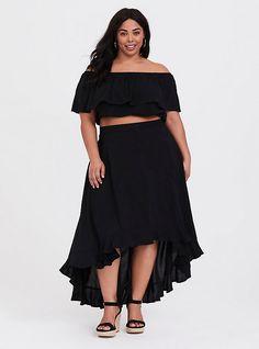 8a24460afdc Off Shoulder Crop Top, Off Shoulder Dresses, Ruffle Skirt, Ruffle Trim,  Ruffles