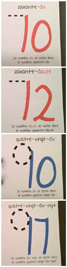 this is the trick to learn 60, 70, 80, 90 in French, flashcards to print off and practice.