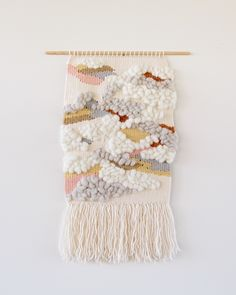 Montmorency in deep winter by Alchemy. Wall hanging handwoven using natural plant dyed and undyed Australian wool yarns and fibres. http://thealchemystore.bigcartel.com