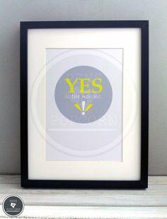 Kunstdruck  | YES is the new no von Pens N' Popcorn auf DaWanda.com