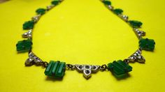reduced beautiful NECKLACE Art Deco by CopperJewelryMoreJag