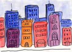 Watercolor Cityscape