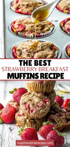 Start your day with a breakfast muffin filled with plump, juicy strawberries, and figs. Plus, they don't have any refined sugar. Figs Breakfast, Strawberry Breakfast, Healthy Breakfast Muffins, Breakfast Recipes, Roasted Strawberries, Dried Figs, Kosher Recipes, Roasting Pan, Smoothie Bowl
