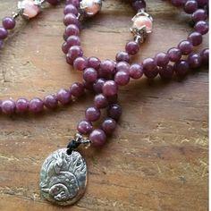 Pure Love, love mala, love prayer beads, love rosary, mother love mala, mother prayer beads, mother mala, mother rosary, protection mala by MagickAlive on Etsy