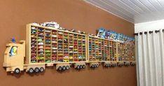 Úžasné DIY nápady ako vystaviť detskú zbierku ich najvzácnejších autíčok. Inšpirujte sa - detské výstavné police a regály. Poličky na autíčka detí